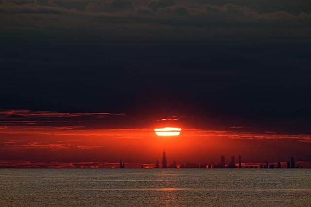 Sliver of Sunset Over Chicago.jpg