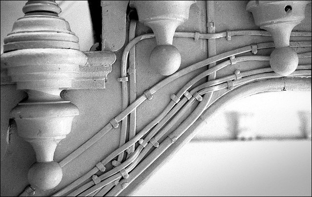 Composition with cables and finials.