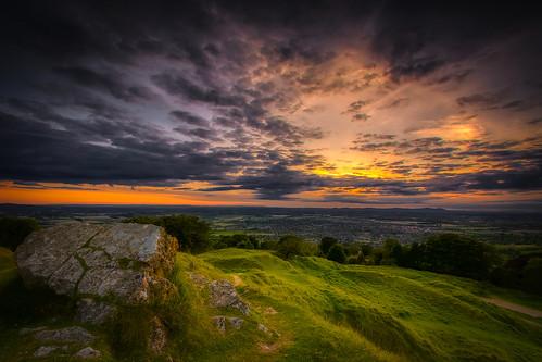 cotswolds gloucestershire sunset