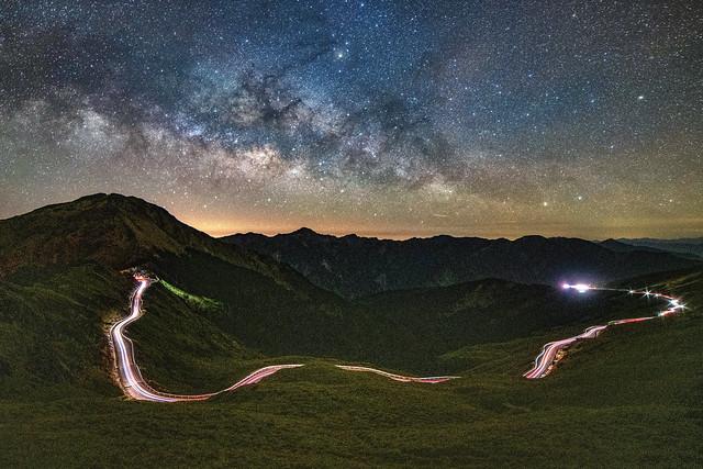合歡山~車軌●銀河~  Mt. Hehuan Milkyway