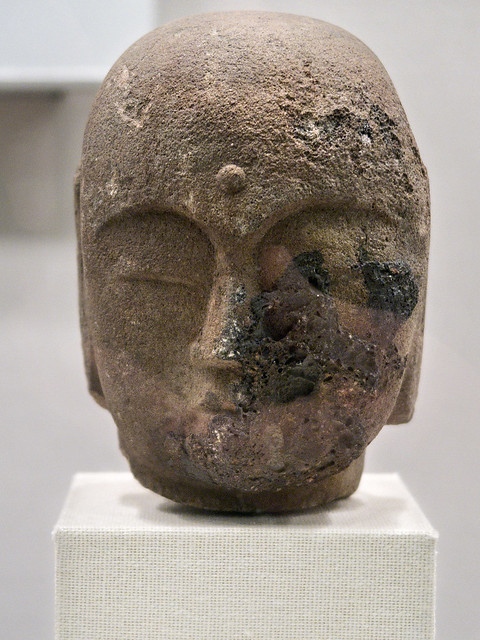 Buddha's head, Peace Memorial Museum, Hiroshima, Japan