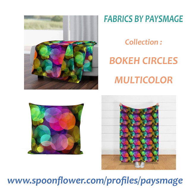 XL BOKEH BLANKET AND CUSHION BY PAYSMAGE