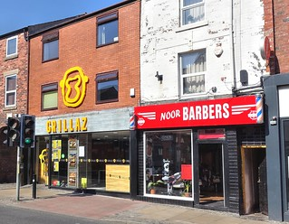Grillaz and Noor Barbers on Friargate, Preston | by Tony Worrall