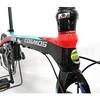 512-003 COSMOS FD-Z2 碳纖維(T700) 16吋9速油壓碟煞(9.4公斤)折疊車-藍黑紅(SORA變速器)(飛輪11-25)(左折伸縮立管)(水滴座管)(車重不含腳踏板)