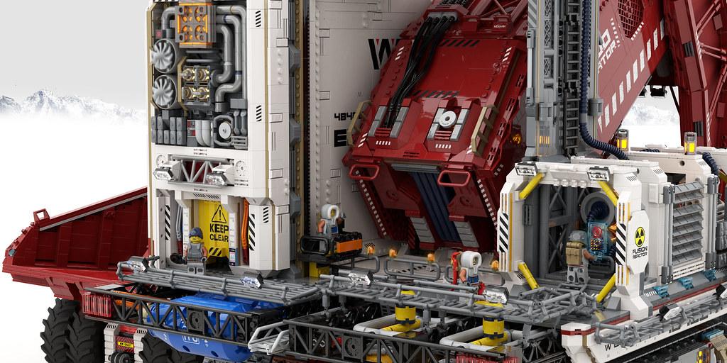 WEGENER mining 48400 excavator [ close ups ]