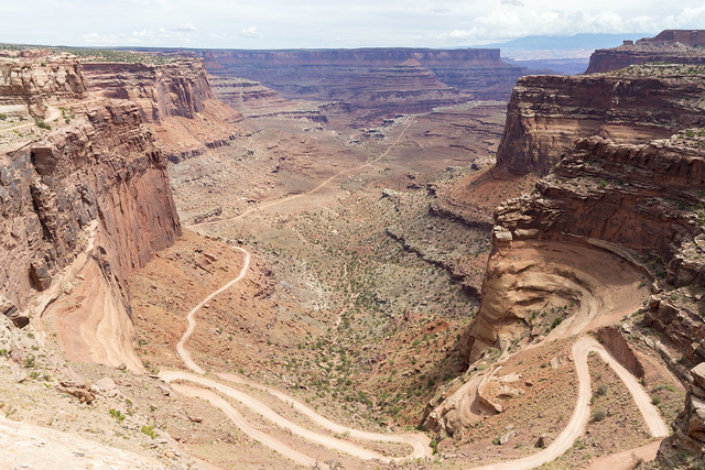 Shafer Canyon Road in Canyonlands National Park