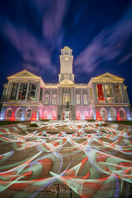 In celebration of Singapore's 55th National Day, Victoria Theatre will be lit up from now till Aug. 30, 2020.