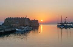 Sunrise in Heraklio.