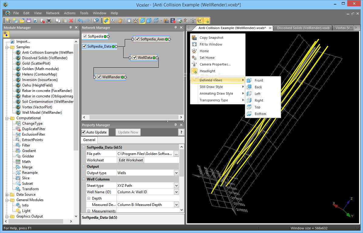 Working with Golden Software Voxler 4.6 full