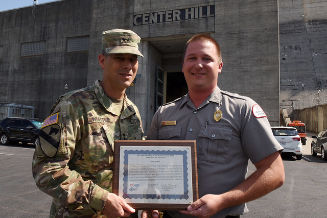 Center Hill Lake park ranger receives command recognition