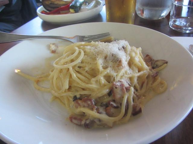 Pasta with mushrooms, Isola  di Capri, Italian Restaurant, Thompson Avenue,Cowes, Phillip Island, Gippsland, Victoria
