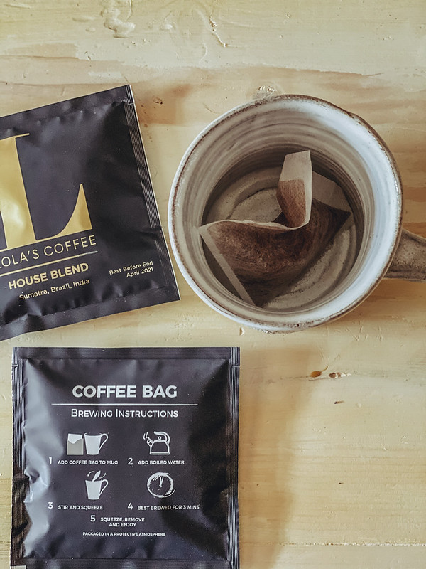 Georgina Ingham | Culinary Travels Photography. Lola's Coffee Bags make a great, quick alternative to Barista Coffee on the go