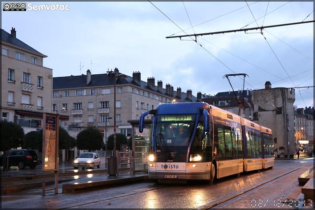 Bombardier TVR (Transport sur Voie Réservée) – Keolis Caen / Twisto n°521
