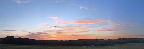 sunset bigsky panorama rural centralpennsylvania
