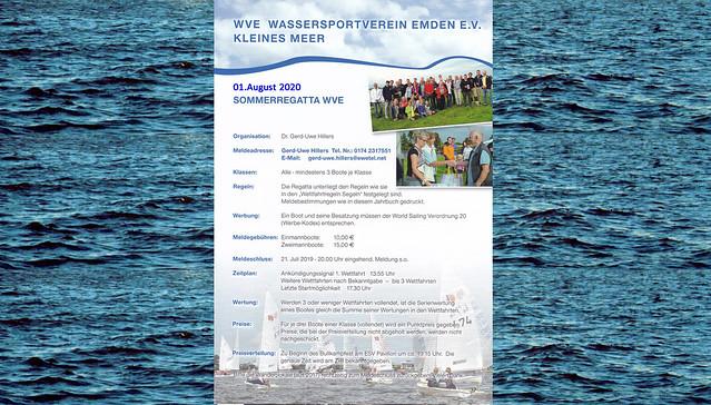 01. August 2020 WVE-Sommerregatta