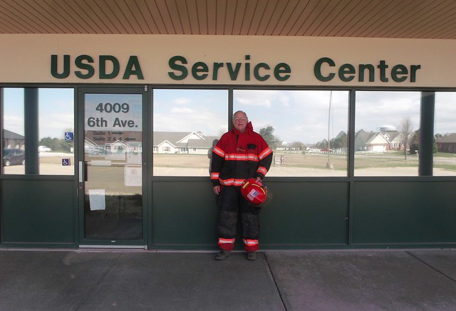 Dave Fulton in front of the USDA Service Center