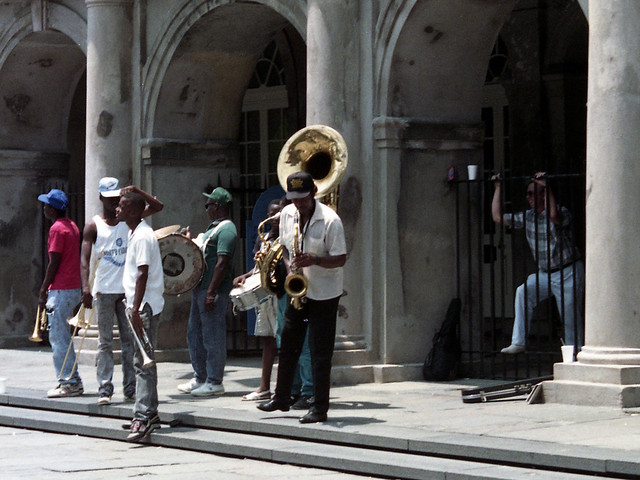 Buskers on Chartres Street, New Orleans, Summer 1989