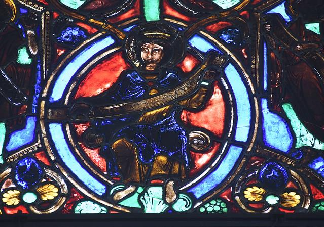 Legden, Westfalen, St. Brigida, east window, 4th level, detail