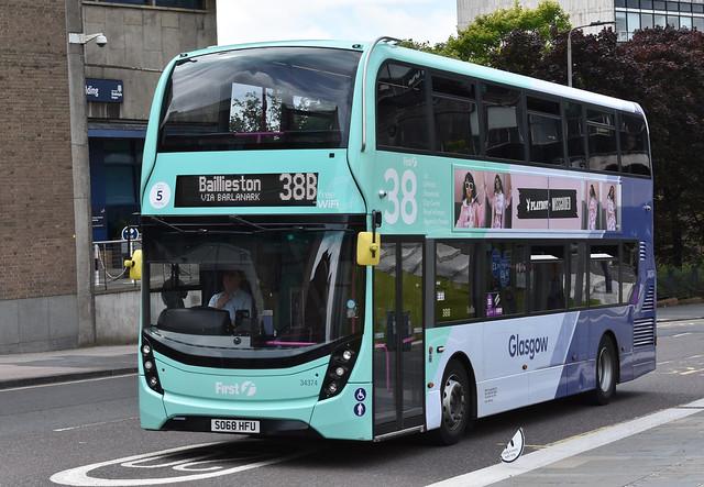 First Glasgow Alexander Dennis Enviro 400 MMC 34374