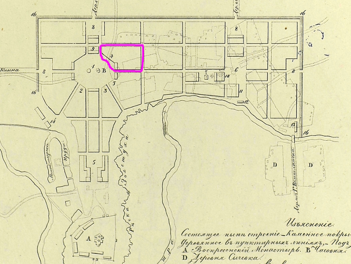 Планъ Московскаго намѣстничества Городу Воскресенску 1784 года