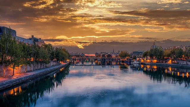 Aurore sur le Pont des Arts - Paris - Longue Exposition