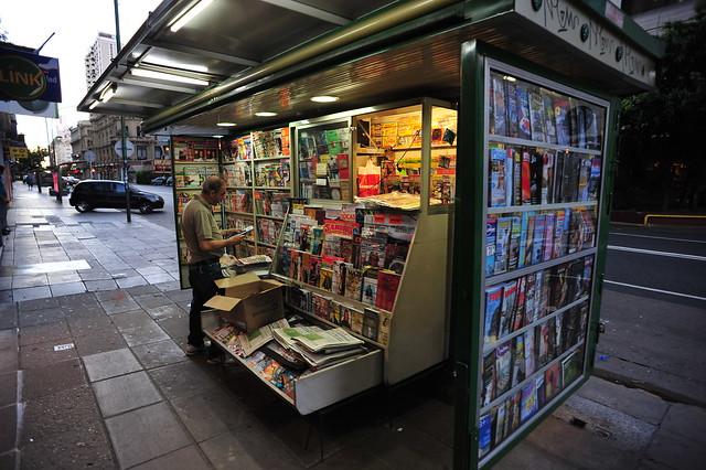 Newspaper & magazine stand,  Cordoba Ave., Buenos Aires,