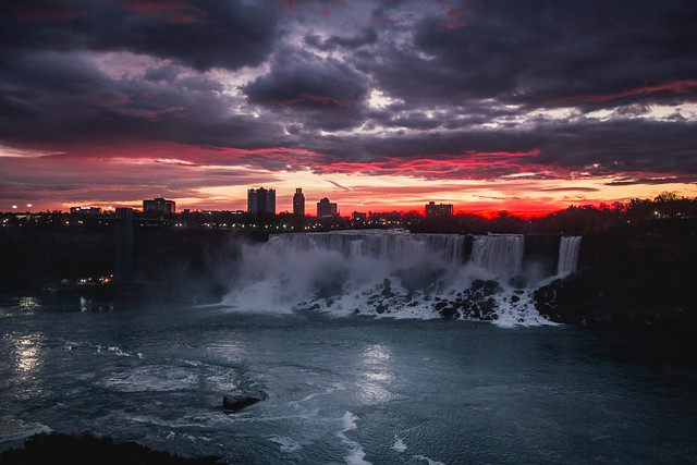 Sunrise over American Falls
