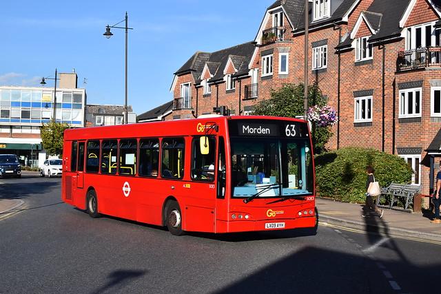 Go-Ahead London Optare Esteem - LX09 AYH SOE3 - Route 163