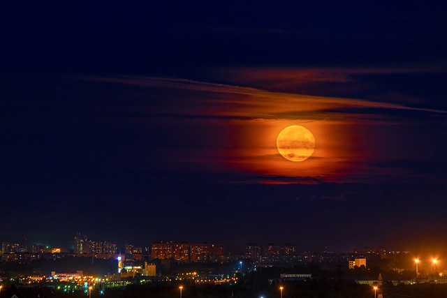 The Moon Above The City