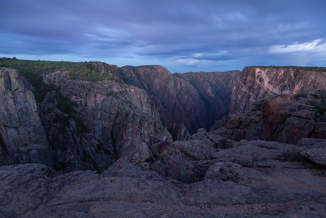 Blue Hour Dawns in the Black Canyon