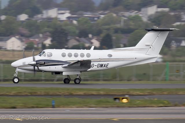 G-GMAE Beech King Air 200 Gama Aviation Glasgow airport EGPF 01.05-20