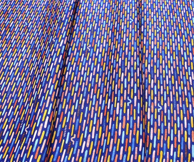 Windham Fabrics Sweet Oak 51310-1 Inch Worm Navy
