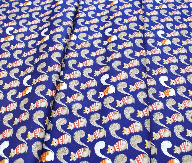 Windham Fabrics Sweet Oak 51306-1 Squirrels Navy