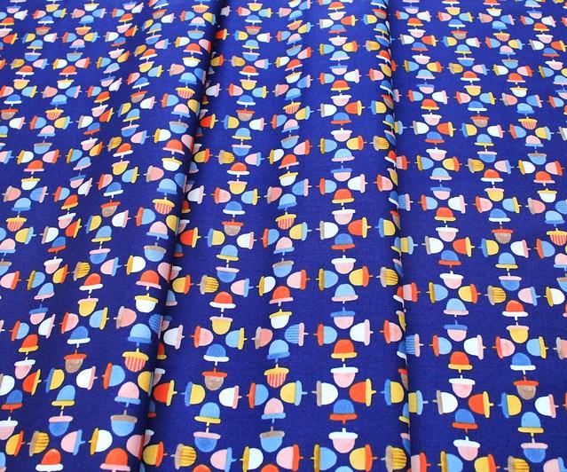 Windham Fabrics Sweet Oak 51308-1 Acorns Navy