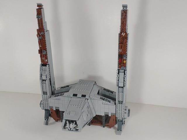 Lego AT Hauler moc in landed form