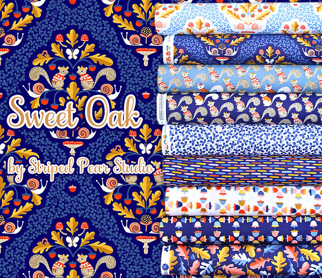 Windham Fabrics Sweet Oak Collection by Striped Pear Studio