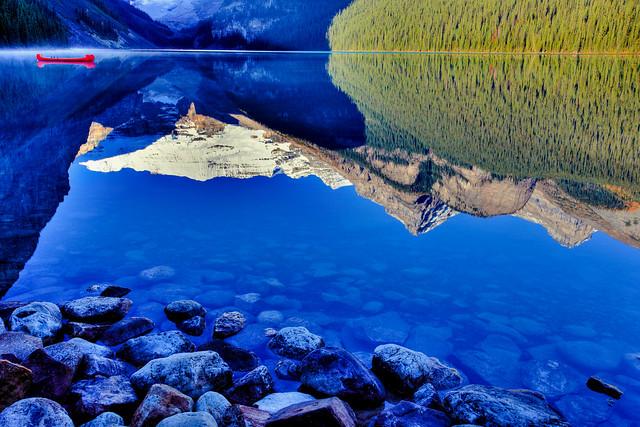 Lake Louise and Victoria Glacier, Banff National Park, Alberta, Canada