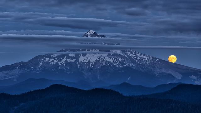 Moonrise over Mt. Hood