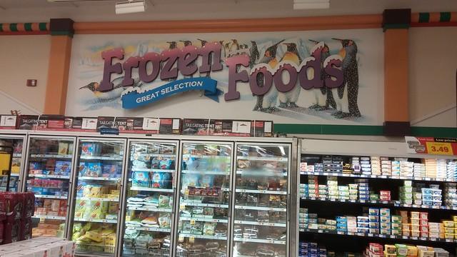 Millennium Décor Frozen Foods Sign, Oxford Edition