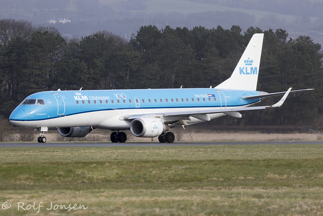 PH-EZD Embraer 190 KLM Cityhopper Glasgow Airport EGPF 09.03-20