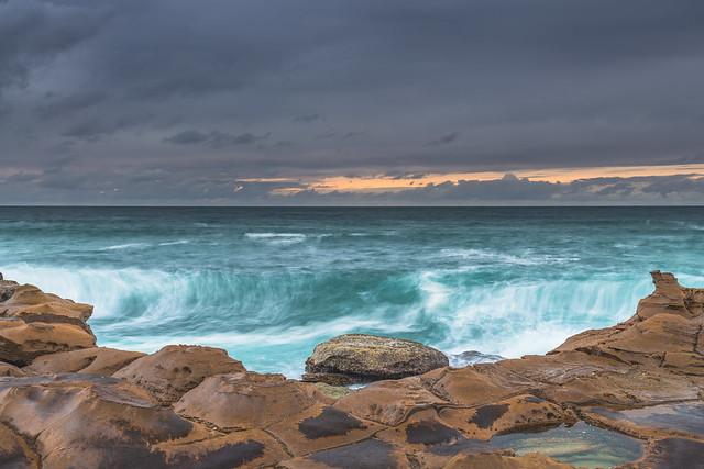 Before the Rain Coastal Sunrise Seascape