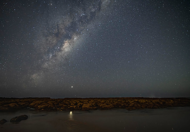 Milky Way Night Sky at the Beach