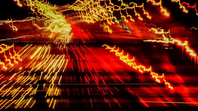 - Highway Light Trails -