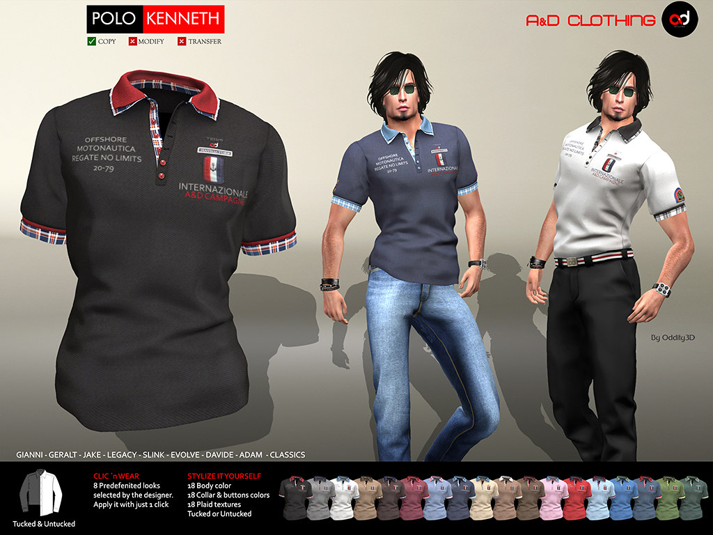 ! A&D Clothing - Polo -Kenneth-  FatPack
