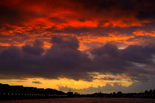 Firey skies over Preston | by Tony Worrall