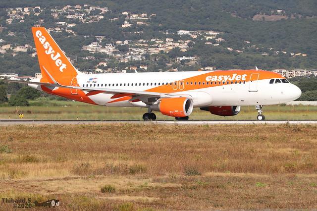 Airbus A320 -214 EASYJET OE-INA 7693 Bastia juillet 2020