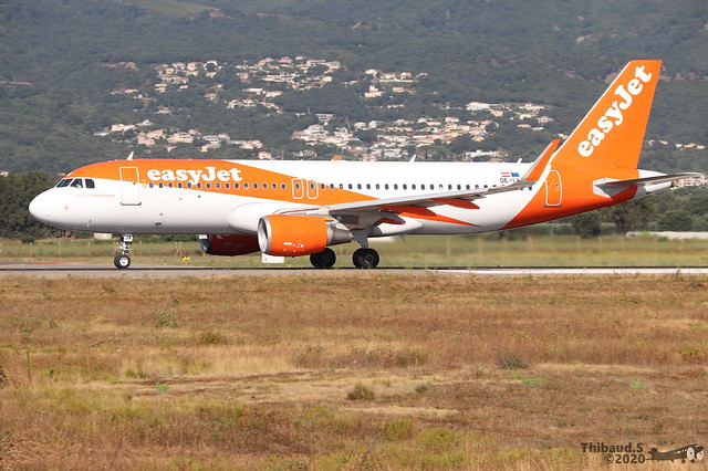 Airbus A320 -214 EASYJET OE-IJA 7660 Bastia juillet 2020
