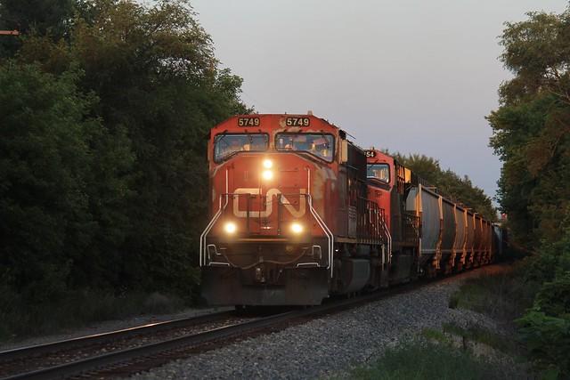 Last light on the Freeport sub