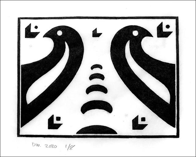 Lino Print. 2020.