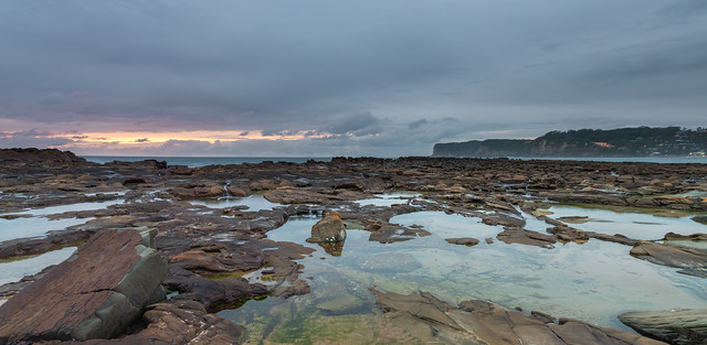 Before the Rain Coastal Panorama Sunrise Seascape